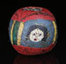Ancient mosaic glass face bead from Egyptian Alexandria