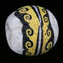 Ancient mosaic glass bead from Egyptian Alexandria from the time of Cleopatra