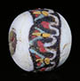 Ancient Egyptian mosaic glass bead with lotus