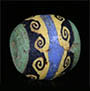 Egyptian mosaic cane bead with wave pattern from Roman times