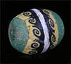Egyptian mosaic glass bead with wave cane from Cleopatra's times